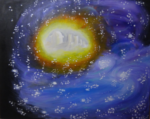 Message from Space, acrylique, 100 x 80 cm, 2015, CHF 820