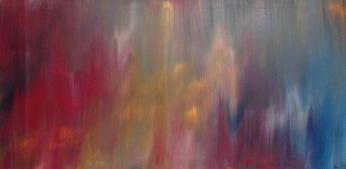 Aurore Boréale, Acrylique, 100 x 50 cm, 2015, CHF 520