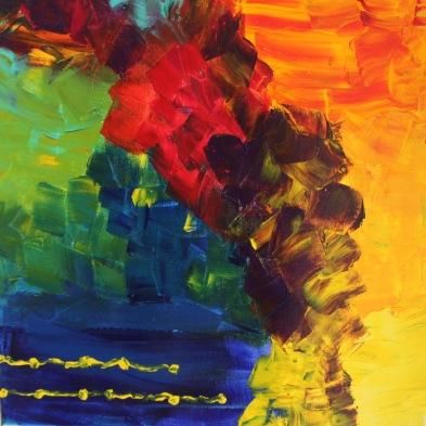 Je voulais vous dire...acrylique, 50 x 50 cm, 2015, CHF 300
