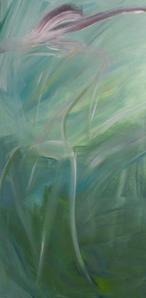 Lady Spring acrylique, 50 x 100 cm, 2015, CHF 520,VENDU