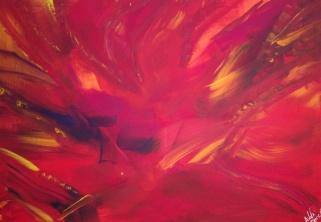 Lady Autumn, acrylique, 100x70,2015, CHF 820