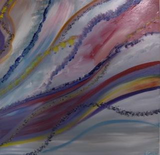 Nuages, acrylique, 60 x 60 cm, 2015, CHF 420