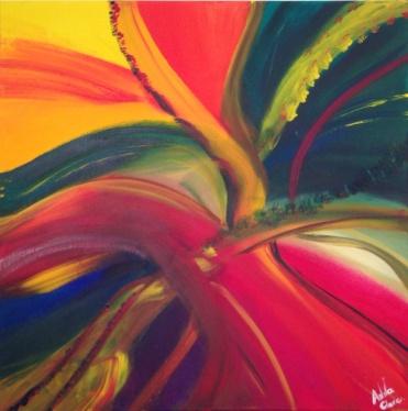 Rainbow, acrilique, 70x70, 2015, CHF 620