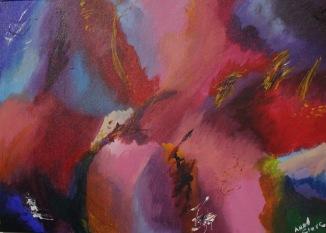 Summer Time, acrylique, 70 x 50 cm, 2015, CHF 360