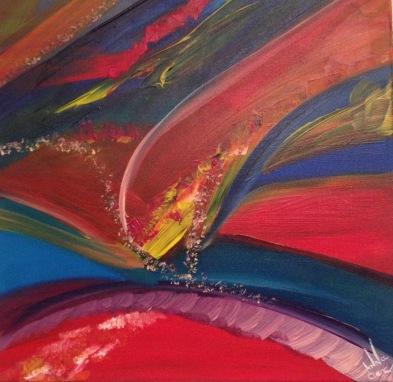 The one, Acrylique, 50 x 50 cm, 2015, CHF 300