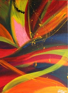 The Winner, Acrylique, 30 x 40 cm, 2015, CHF 150, Gagné