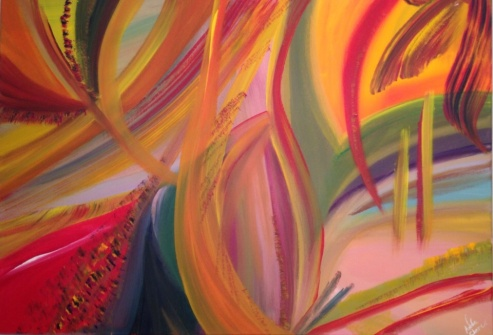 Wings of happines,Acrylique , 100 x 70 cm, 2015,CHF 820
