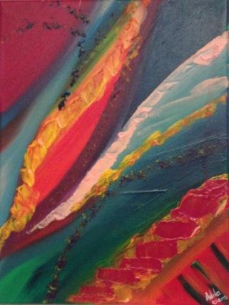 YOU, Acrylique, 30 x 40 cm, 2015, CHF 150